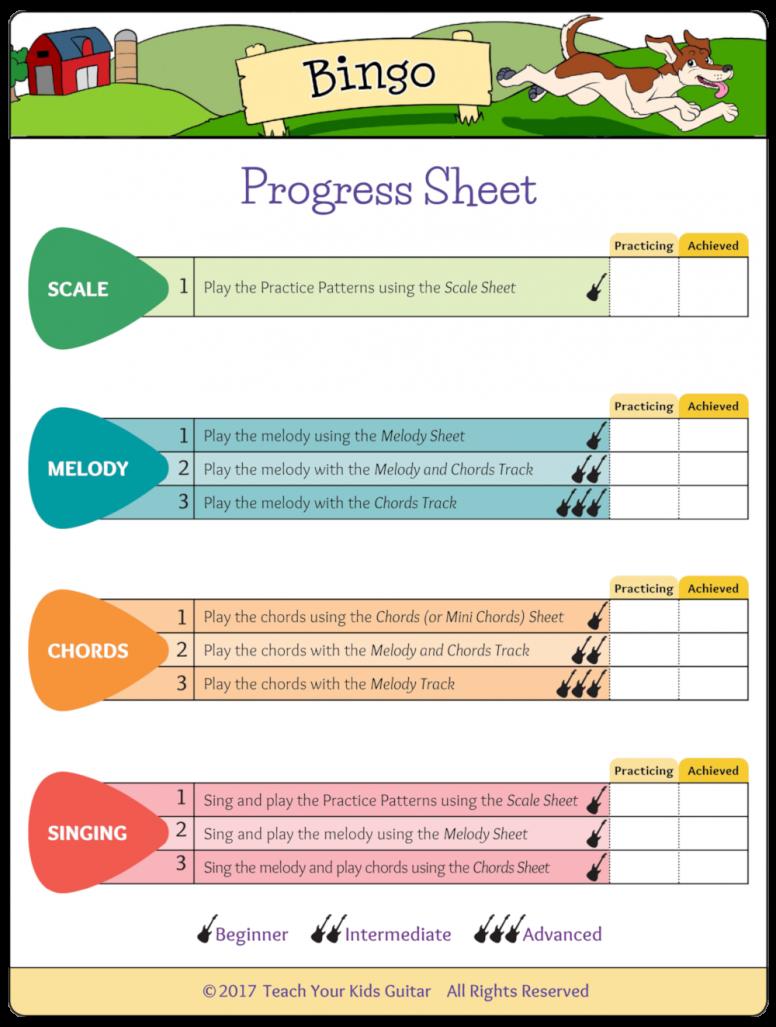 Bingo Progress Sheet Trans