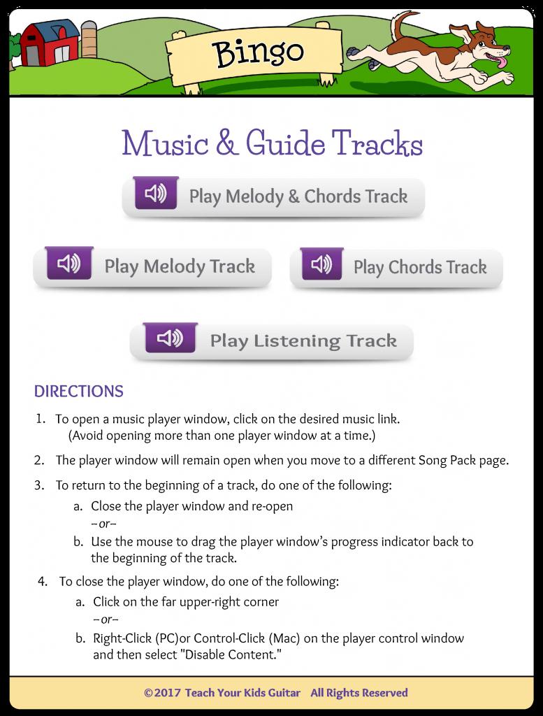 Bingo Music Guide Tracks