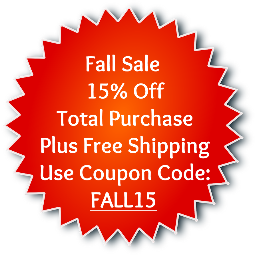 Coupon Fall Sale 15% Off Free Ship
