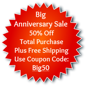 Coupon Anniversary Sale 50% Off Free Shipping