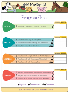 Old MacDonald Progress Sheet Trans