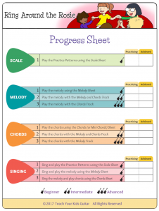 Ring Around The Rosie Progress Sheet Trans